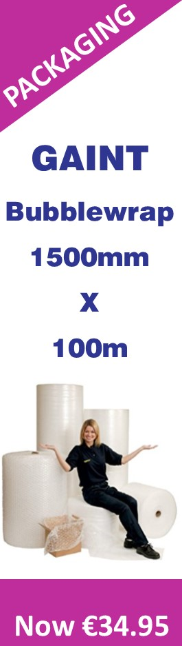 Gaint Bubble Wrap Roll - 1500mm x 100m metres - €34.95 Now Only