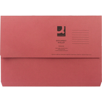 A4 Document Wallet 285gsm - Red